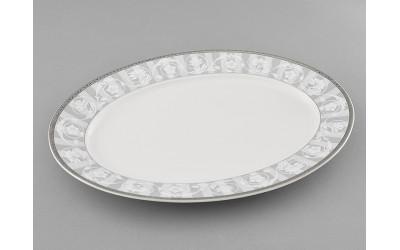 Блюдо овальное 35см 02111523-1013 Сабина Серый орнамент, Leander