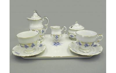 Подарочный набор кофейный мокко Тет-а-тет 07140743-0009 синие цветы, Leander