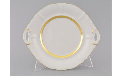 Тарелка для торта 27см 07111027-1239 Соната Золотая лента, слоновая кость, Leander