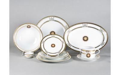 Сервиз столовый 24предм. 02162124-A126 Версаче золотая лента, Leander