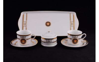 Подарочный набор чайный Тет-а-тет 02140715-A126 Версаче золотая лента, Leander