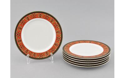 Набор тарелок десертн. 6шт. 17см 02160327-0979 Красная лента, Leander