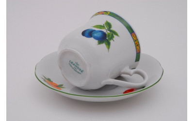 Набор чашек выс. с бл. 0,20л 6шт. 03160415-080H Мэри-Энн Фруктовый сад, Leander