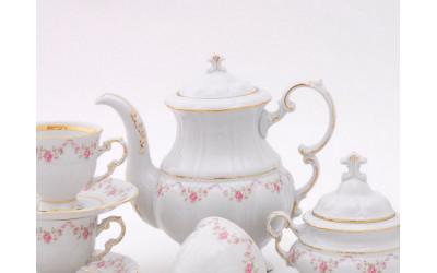 Кофейник мокко 0,65л 07120716-0158 Верона, Мелкие цветы, отводка золото, Leander