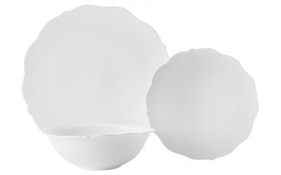 Набор столовый 12 предметов на 4 персоны  Белая роза в подарочной упаковке