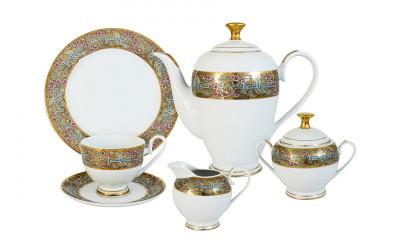 Чайный сервиз Розовый берег 23 предмета на 6 персон
