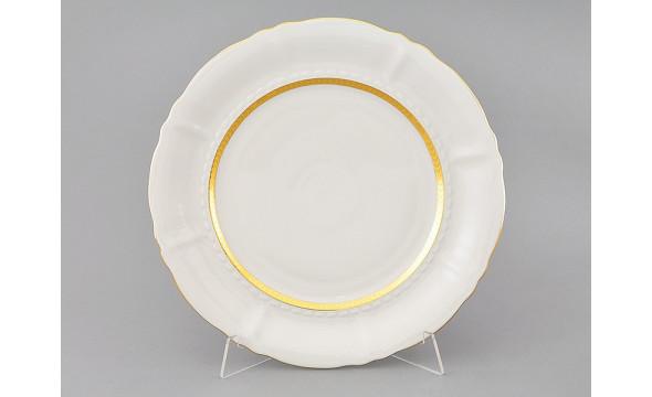 Блюдо круглое мелкое 32см 07111315-1239 Соната Золотая лента, слоновая кость, Leander