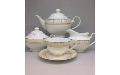 Сервиз чайный 17 предметов на 6 персон. Желтые дольки J06-018GL-4, Japonica