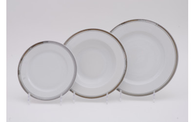 Набор тарелок 18предм.с тарел.дес. 19см 02160129-0011 Отводка платина, Leander