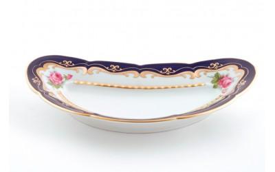 Блюдо для костей 07114913-0440 Соната Кобальтовая лента, мелкие цветы, Leander