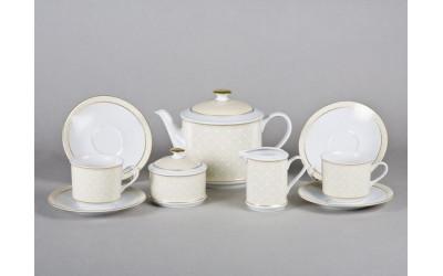 Сервиз чайный 15предм. 02160725-243D Сабина Золотая элегантность, Leander
