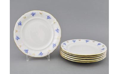 Набор тарелок десертных 6шт 19см 07160319-0009 синие цветы, Leander