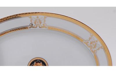 Блюдо для гарнира овальное 22см 02111735-A126 Версаче золотая лента, Leander