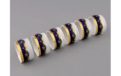 Кольцо для салфеток большое 07114612-0440 Соната Кобальтовая лента, мелкие цветы, Leander