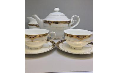 """Сервиз чайный 17 предметов на 6 персон """"Дворцовый кобальт"""", Japonica"""