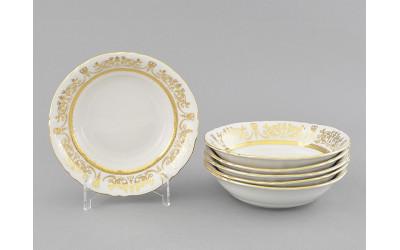 Набор салатников 16см 6 шт. 07161413-1373 Соната Золотой орнамент, отводка золото, Leander