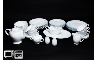 Чайно-Столовый сервиз на 6 персон 45 предметов УТРЕННИЙ, Rulanda, костяной фарфор