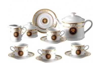 Сервиз чайный 15предм. 02160725-A126 Версаче золотая лента, Leander