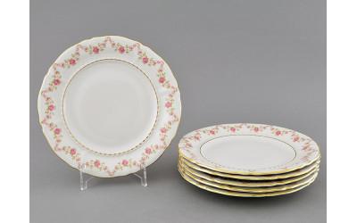 Набор тарелок десертн. 6шт. 17см 07160317-0158 Верона, Мелкие цветы, отводка золото, Leander