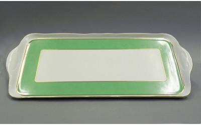 Поднос чет. гран. 36см 03111643-1381 Мэри-Энн Зеленые листья, Leander
