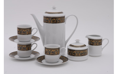 Сервиз кофейный 15 предметов чаш. 0,15л Версаче, Leander