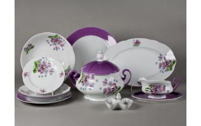 Сервиз столовый 25 предметов на 6 персон Мэри-Энн Лиловые цветы, Leander