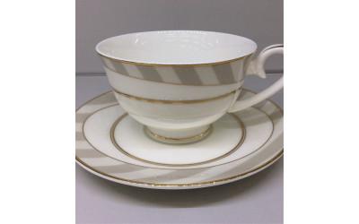 Набор чашек на 2 персон Серые полоски Y05-54H-3, Japonica