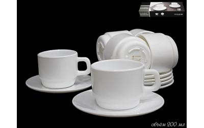 116-047 чайный набор 12пр. WHITE