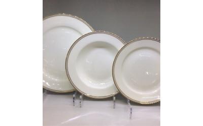"Набор тарелок 18 предметов на 6 персон ""Рояль"" GD-1900 BK-2, Japonica"