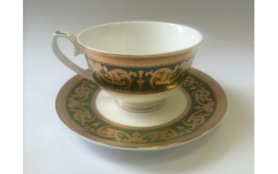Набор чайных пар 2/4 Малахит EMGD-4260D.GR-3