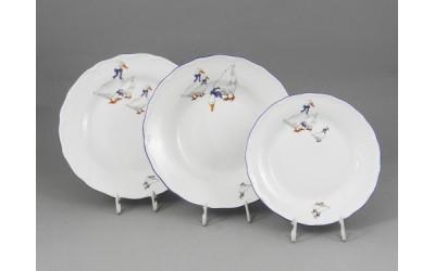 Набор тарелок 18 предм. с т.дес. 19см 67160119-0807 Гуси, Leander