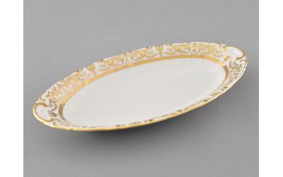 Блюдо овальное 23см 07116125-1373 Соната Золотой орнамент, отводка золото, Leander