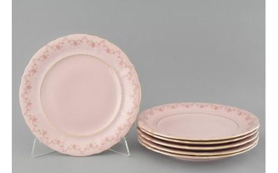 Набор подстановочных тарелок 25см 6шт. 07260115-0158 Верона, Мелкие цветы, отводка золото, Leander