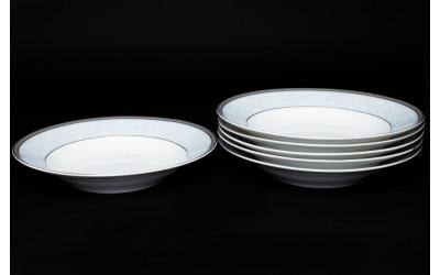 Набор тарелок 6 шт. 23см (суп) Узор, костяной фарфор