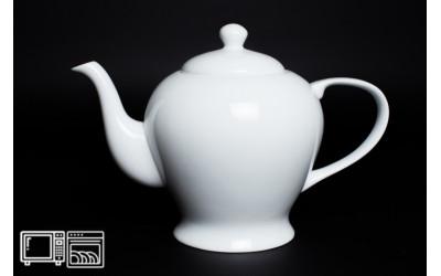 Чайник 1 литр Белый, костяной фарфор