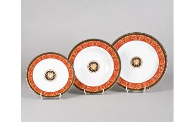 Набор тарелок 18 предм. с т.дес.19 02160129-B979 Красная лента Версаче, Leander