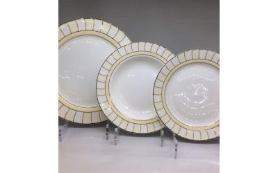 Набор тарелок 18 предметов на 6 персон Желтые дольки J06-018GL-2, Japonica