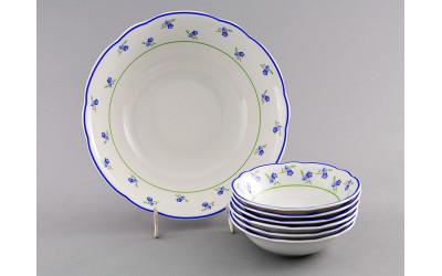 Набор салатников 7пр. 03161416-0887 Мэри-Энн Синие цветы, Leander