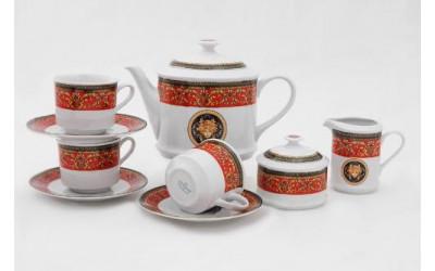 Сервиз чайный 15 предм. 02160725-B979 Красная лента Версаче, Leander