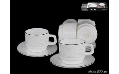 116-048 чайный набор СЕРЕБРЯНЫЙ ШЕЛК 12пр.