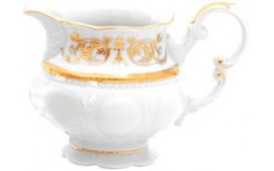 Молочник низкий 0,25л 07110825-1373 Соната Золотой орнамент, отводка золото, Leander