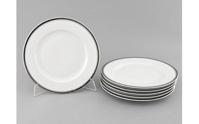 Набор тарелок десертных 6шт 19см 02160329-0011 Отводка платина, Leander