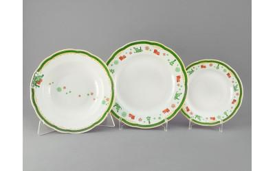 Набор тарелок 18предм. с тар. дес. 19 03160119-2573 Мэри-Энн Олени, Leander