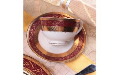Набор чашек 4 предметов на 6 персон Королевский рубин GMEMGD-4259RD-3, Japonica