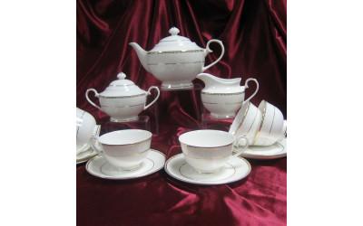 Сервиз чайный 17 предметов на 6 персон Свадебный EMGD-4053P Gyem-4, Japonica