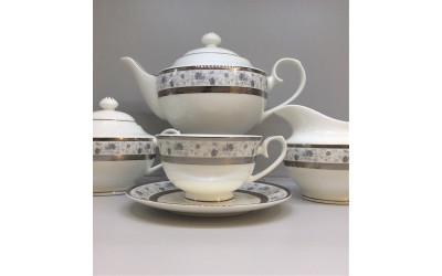 Сервиз чайный 17 предметов на 6 персон Киото EMPL-8239GY-4, Japonica