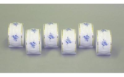 Набор колец для салфеток 6предм. 07164612-0009 синие цветы, Leander