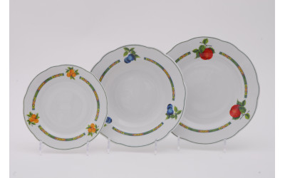 Набор тарелок 18предм. с тар. дес. 19 03160119-080H Мэри-Энн Фруктовый сад, Leander