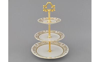 Горка 3 уровня 07196032-1373 Соната Золотой орнамент, отводка золото, Leander