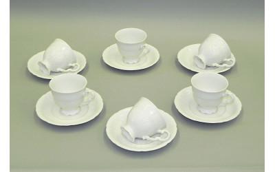 Набор чашек выс. с блюдцем 6шт 0,15л 07160414-0000 Императорский, Leander